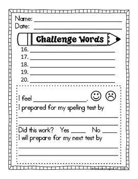 test template for teachers free free spelling test template by one degree tpt