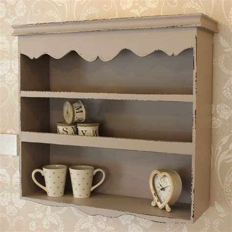 Wall Shelf Unit by Grey Scalloped Wall Shelf Unit Melody Maison 174