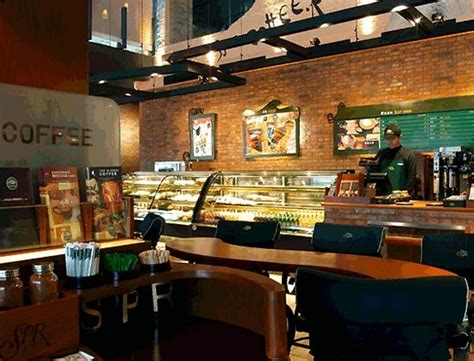 Home Design Exterior Color Schemes by Brick Wall Decor For Warm Coffee Shop Interior Design