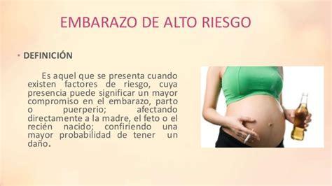 alto riesgo embarazo de alto riesgo