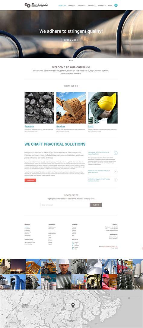 Industrial Responsive Website Template 51759 Industrial Responsive Website Templates Free