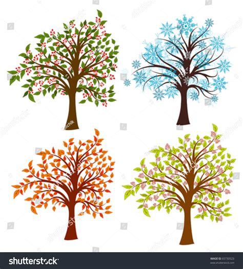 illustration of season trees four seasons trees vector illustration stock vector 65730523