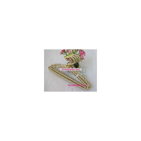 Gantungan Baju Warna 1670 gantungan hanger baju lilit motif unik rotan warna warni butik grosir display