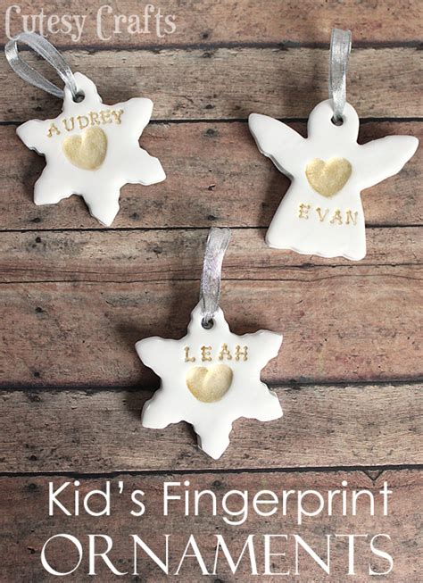 childrens handmade ornaments kid s fingerprint handmade ornaments cutesy crafts