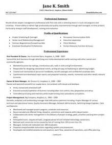 Management Resume Skills by Entry Level Project Manager Resume Sles To Inspire You Vntask