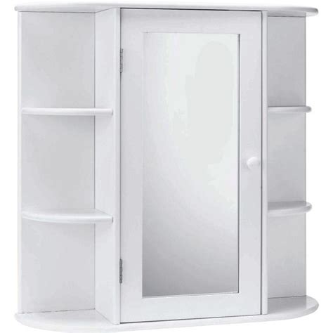 bathroom shelves argos buy home mirrored bathroom cabinet with shelves white at