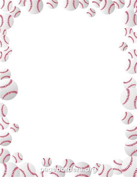 baseball stationery printable printable baseballs border use the border in microsoft