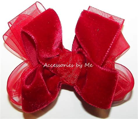 small red velvet bows 1000 images about hair bows for on green satin bows and