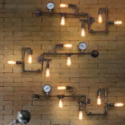 Industrial Type Light Fixtures Vintage Loft Industrial Steunk Wall L Retro Light Rustic Pipe Lighting Ebay