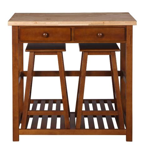 kitchen island with stools home styles kitchen island with two stools home