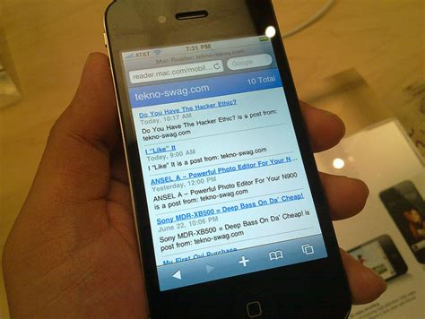 mobile rss feeds is apple s mobile rss reader for the count
