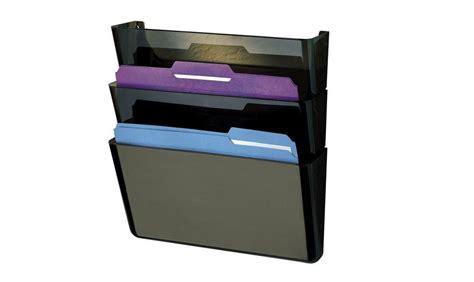 file folder wall rack tier shelf tray storage file folders document holder organizer wall mount office ebay