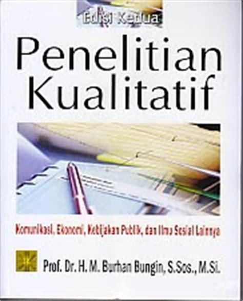 Buku Metodologi Penelitian Kualitatif Burhan Bungin toko buku rahma pusat buku pelajaran sd smp sma smk