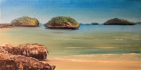 hundred islands in philippines painting by remegio onia