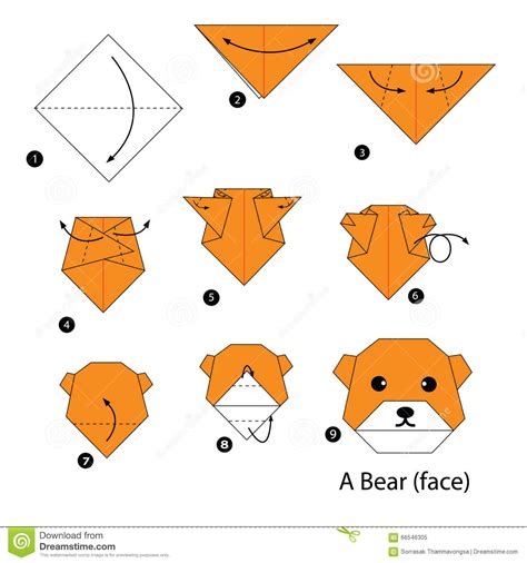 How To Make Paper Origami Animals - step by step how to make origami stock