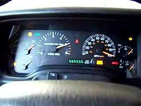 security system 1999 jeep cherokee instrument cluster jeep cherokee instrument cluster self test diagnosis youtube