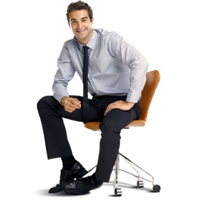 Sitting On by Sitting In Chair Smiling