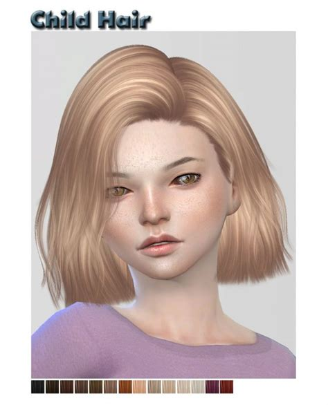 sims 4 child hair cc nightcrawler child hair retexture at shysims via sims 4