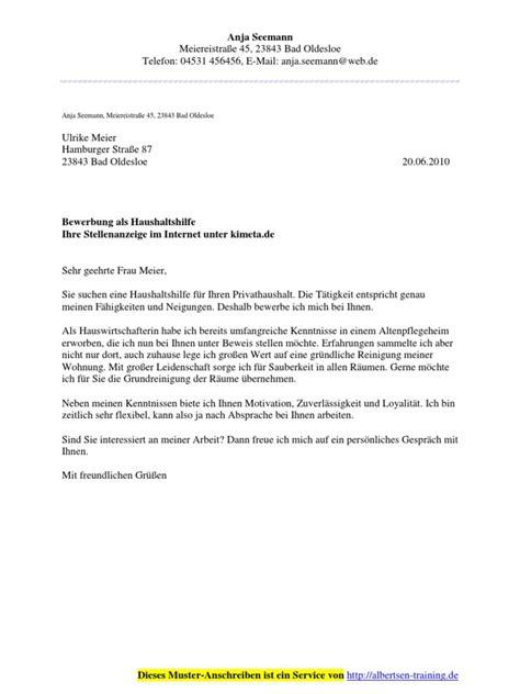 Bewerbungsschreiben Verkäuferin Vorlagen Lebenslauf F 252 R Haushaltshilfe Kostow