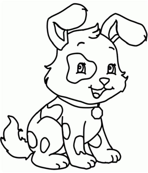 simple dog coloring page easy draw dog clipart best