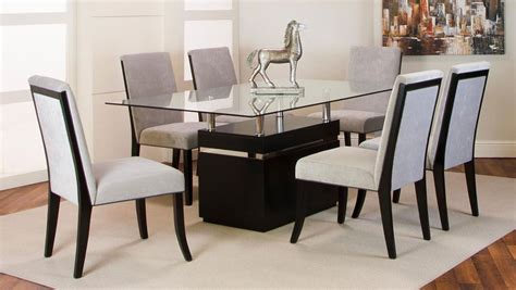 clear glass top dining room set formal dining