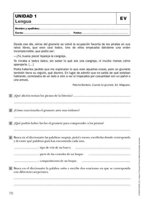 Lengua quinto de primaria anaya-evaluaciones | Anaya