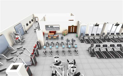 product layout exercise 2d 3d cad layout for gym design