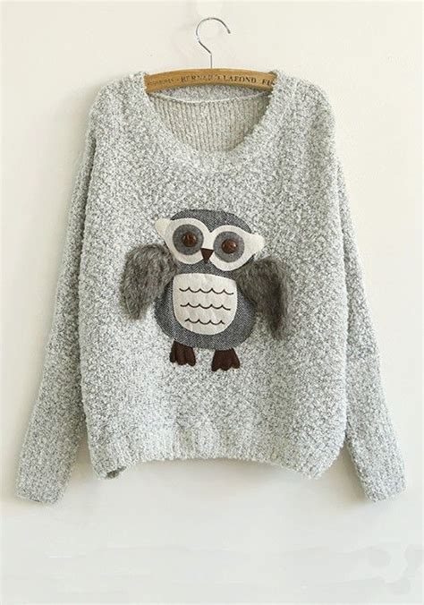 Owel Sweter 1000 ideas about owl sweater on owl necklace