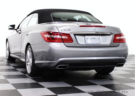 used mercedes convertible 2011 used mercedes certified e550 v8 amg sport p2