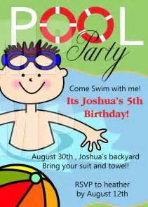 birthday invitation pool party free aaiiworld org