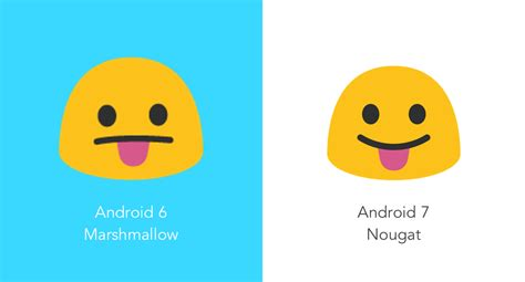 more emojis for android new emoji in android 7 0 nougat vs android 6 0 marshmallow