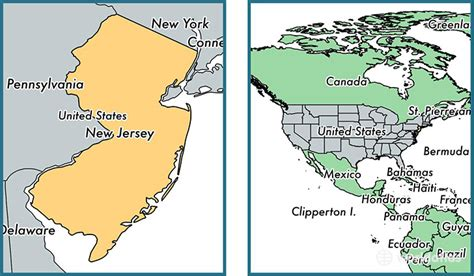 new jersey usa map location where is new jersey state where is new jersey located
