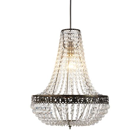 Chandelier Light Fitting Jewelled Pendant Light Fitting