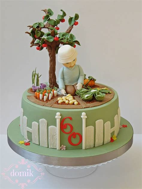 Garden Birthday Cakes Ideas Happy Caking By Domik Cakes Gardening Home Family