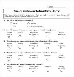 customer service template 12 customer survey templates free sle exle
