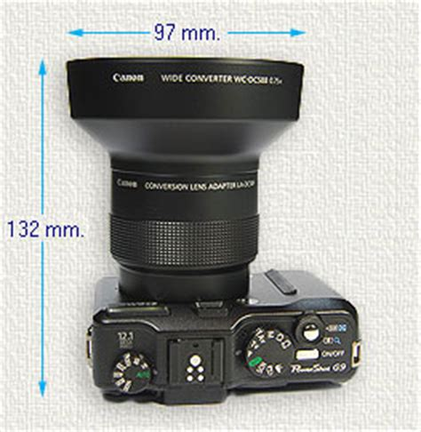 len g9 canon powershot g9 wide angle lens
