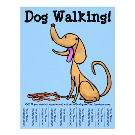 dog walking flyer zazzle