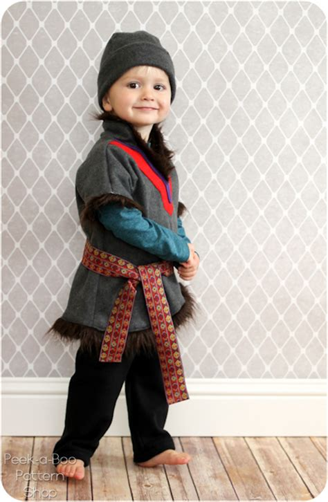 kristoff inspired costume tutorial peek  boo pages