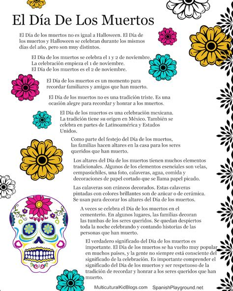 day of the dead books dia de los muertos publications day of the dead facts in english and spanish learning