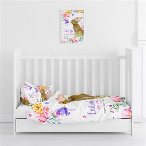 personalised comforter personalised cot toddler bed quilt cover pillowcase sets