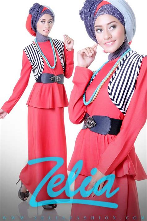 Azrela By Agoest Hanggono dandelion merah baju muslim gamis modern