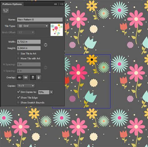 adobe illustrator flower pattern create an easy field of flowers pattern design in adobe