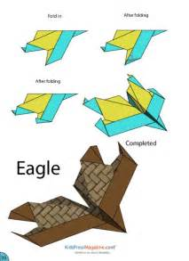 How To Make Origami Airplane - paper airplane eagle crafts activities