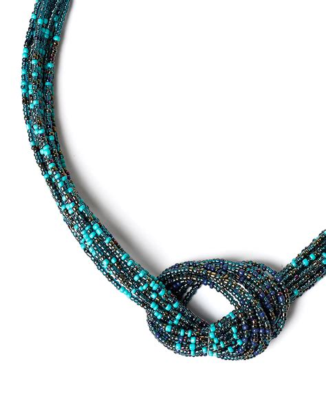 beading knots seed bead knot necklace cleo