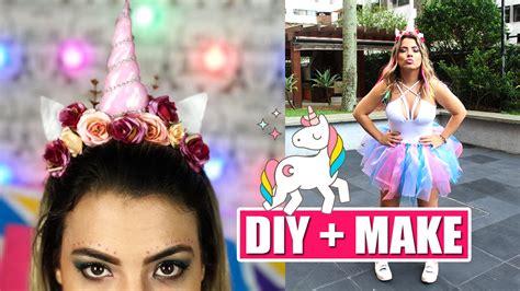 imagenes de fantasia unicornios diy fantasia e make unic 211 rnio carnaval kathy castricini
