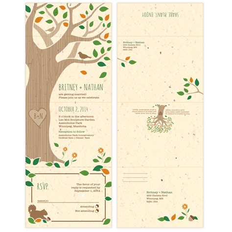 Seal And Send Wedding Invitations by Rustic Tree Seal And Send Invitation Seal And Send