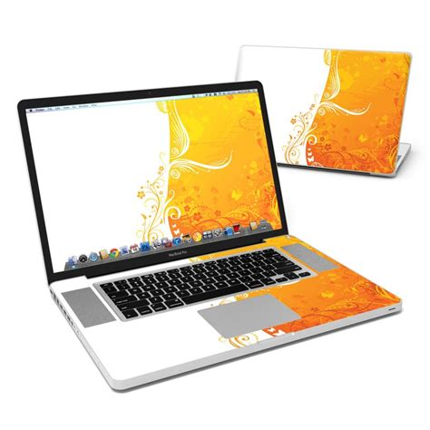 Chromes Crush Proof For Mac Laptops by Macbook Pro 17in Skin Orange Crush Decalgirl