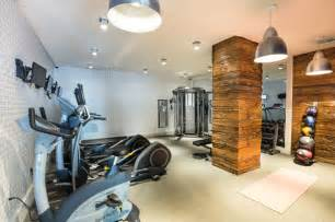 Home Gym Lighting Design Reclaimed Wood Contemporary Home Gym New York By