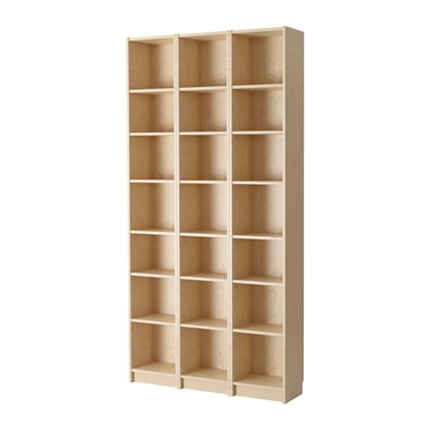 shallow bookshelves billy bookcase birch veneer ikea
