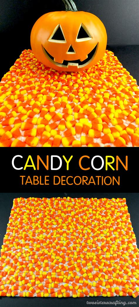 candy corn halloween table decoration two sisters crafting